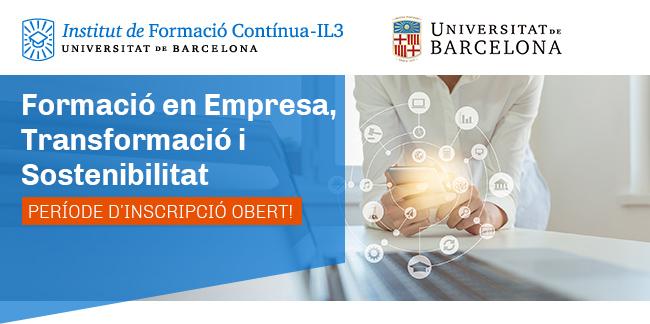 IL3-UB · Formació en Empresa, Transformació i Sostenibilitat